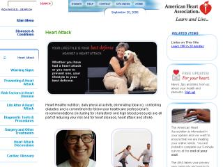 American Heart Association's New Heart Attack Web site image