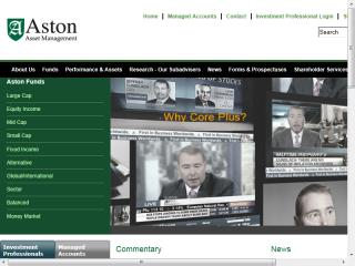 Aston Funds Website image