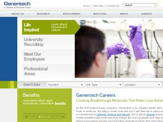 Genentech Career Website image