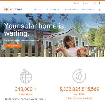 Enphase Energy site redesign image