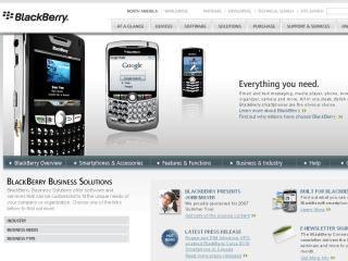 BlackBerry Corporate Site image