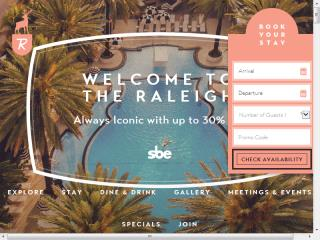 The Raleigh Hotel Website image