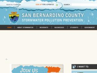 San Bernardino County Stormwater Website  image