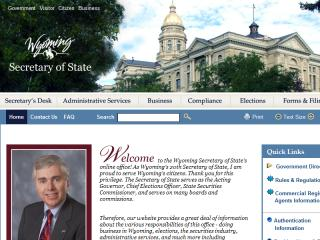 Wyoming Secretary of State image