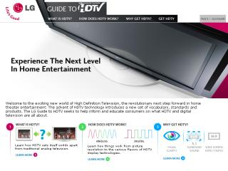 LG Guide to HDTV image