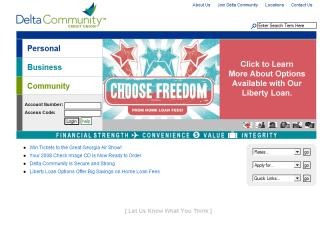 Delta Community Credit Union's Web Site image