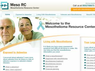 The Mesothelioma Resource Center Re-design image