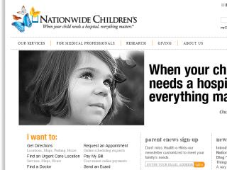 Nationwide Children's Hospital Web Site image