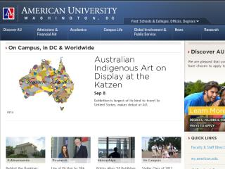 American University Web Site image