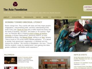 The Asia Foundation Website image