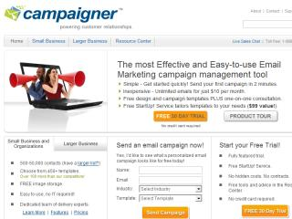 Campaigner Email Marketing Web Site image