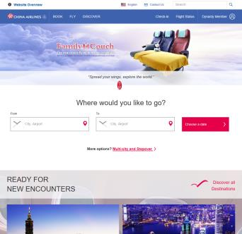 China Airline Website Re-design
