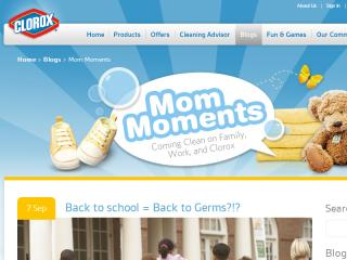Clorox Mom Moments blog image