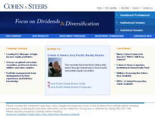 Cohen & Steers Website image