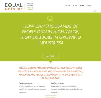 Equal Measure Website image