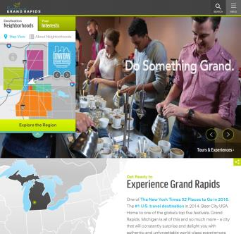 Experience Grand Rapids Website image