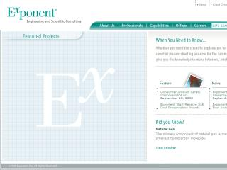 Exponent Website image