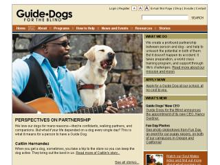 Guide Dogs for the Blind Website image