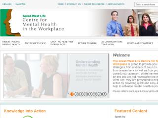 Great West Life Centre for Mental Health in the Workplace image