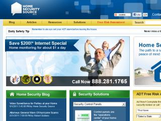Home Security Source Website Redesign image