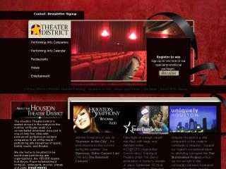 Houston Theater District Web site image