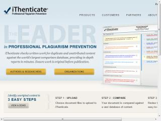 iThenticate Website image