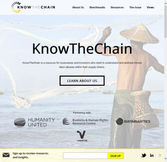 Humanity United KnowTheChain Website Redesign image