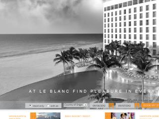 Le Blanc Spa & Resort Website image