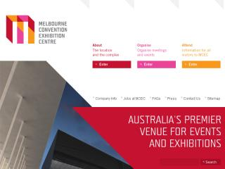 melbourne Convention and Exhibition Centre Web site Design  image