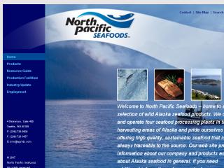 North Pacific Seafoods Web Site image
