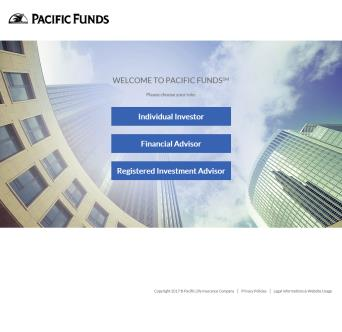 Pacific Funds Web Site image