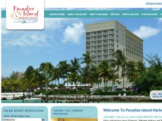 Paradise Island Harbour Resort Website image