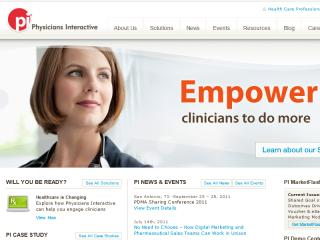 Physicians Interactive Corporate Website image
