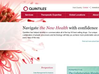 Quintiles Website Redesign image