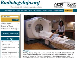 RadiologyInfo.org: The radiology information resource for patients image