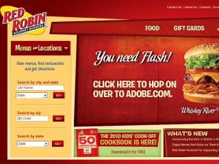Red Robin  Restaurants  Website Redesign image