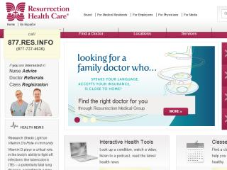 Resurrection Health Care Online image