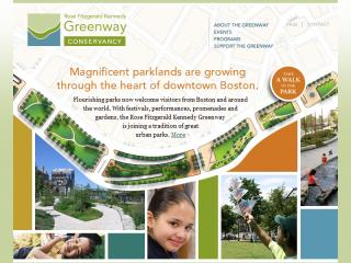 Rose Fitzgerald Kennedy Greenway Conservancy Website image