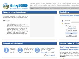 ShirleyBOARD. Where Caregivers Network.  image