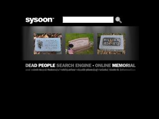 Sysoon | dead people search engine image