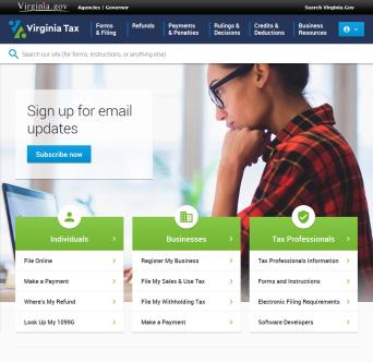 Virginia Tax Website Redesign  image