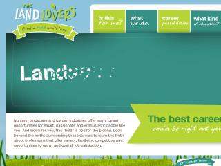 The LandLovers Web Site Design image