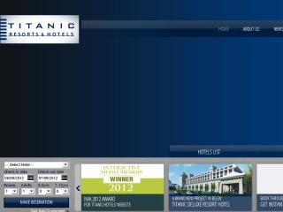 Titanic Hotels Website image