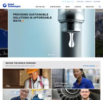 United Technologies Corporation Web Site image