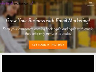 www.verticalresponse.com � A single site for all your marketing needs.  image