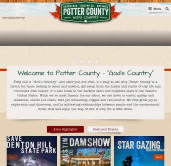 Visit Potter County Website image