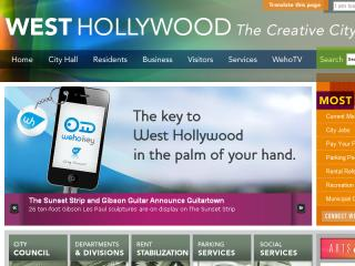 City of West Hollywood Website image