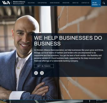 Western Alliance Bancorporation Website Redesign
