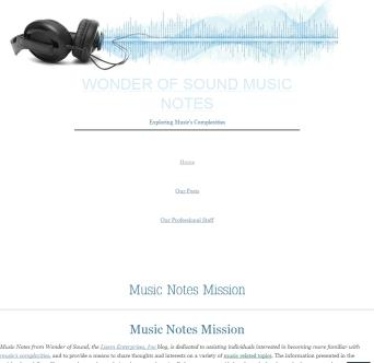 Music Notes from Wonder of Sound