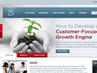 ZS Associates Website Redesign image